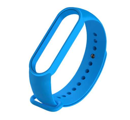Сменный ремешок на фитнес - трекер Xiaomi Mi Band 5 ( Синий  )