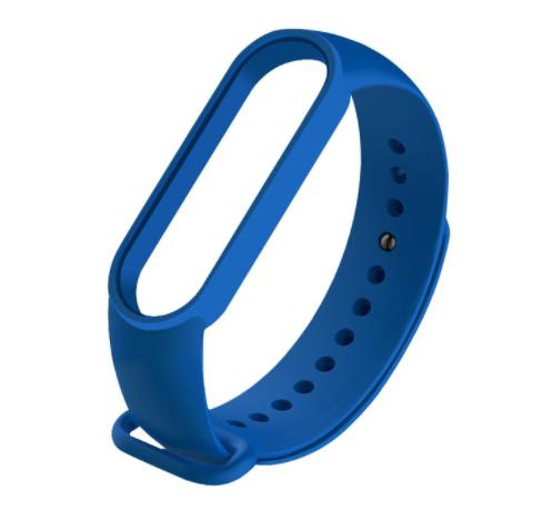 Сменный ремешок на фитнес - трекер Xiaomi Mi Band 5 ( Темно-синий )