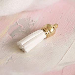 Кисточка декоративная белая 4 см