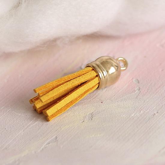 Кисточка декоративная желтая 4 см