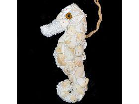 Украшение декоративное МОРСКОЙ КОНЕК РАКУШКА, 22 см, полимерный материал, в прозрач.кор