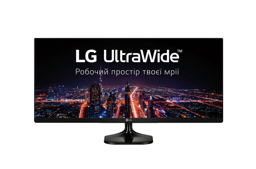 "Монитор LG 25"" UltraWide 25UM58-P IPS Black ; 2560x1080, 5мс, 250 кд/м2, 2хHDMI"