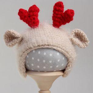 Вязаная шапочка Оленёнок