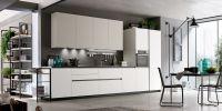 Кухня Fenix NTM 0032 Bianco Kos прямая