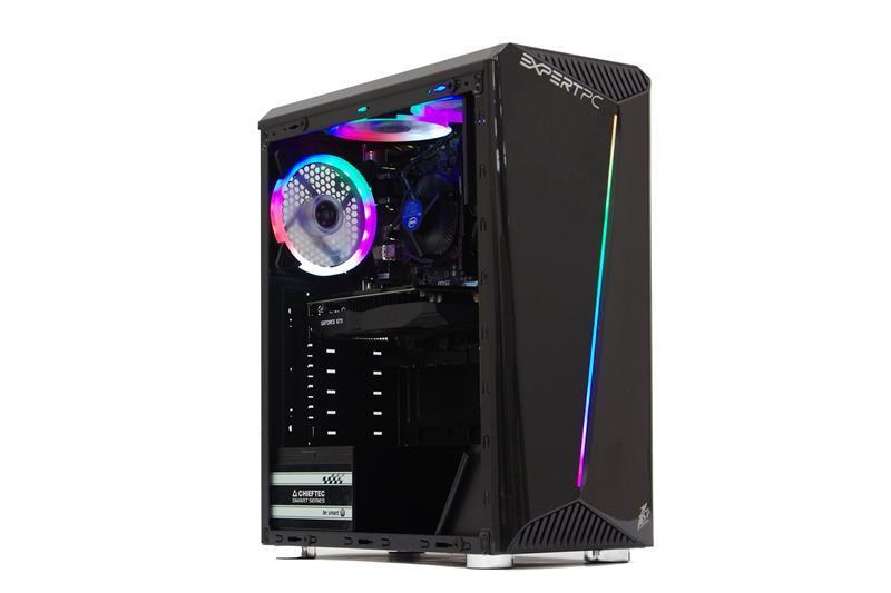 Персональный компьютер Expert PC Ultimate (I9100F.08.H1S1.1650.C008); Intel Core i3-9100F (3.6 - 4.2 ГГц) / ОЗУ 8 ГБ / HDD 1 ТБ + SSD 120 ГБ / NVIDIA GeForce GTX 1650 4 ГБ / без ОП / LAN / Ubuntu / черный