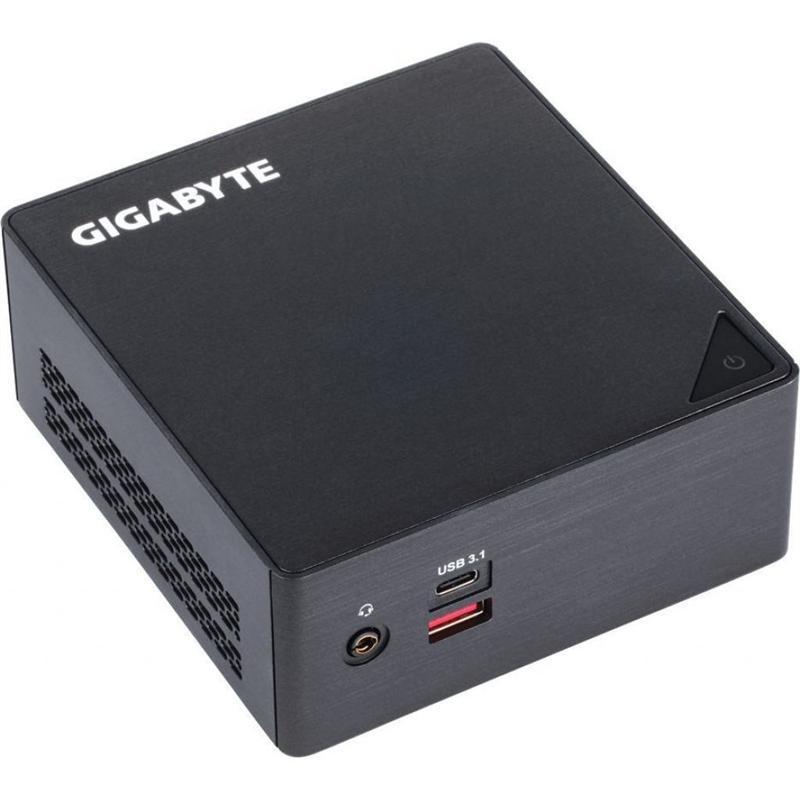 Неттоп Gigabyte BRIX (GB-BRI3-8130); Intel Core i3-8130U (2.2 - 3.4 ГГц) / без ОЗУ (2 x SO-DIMM) / без HDD (SATA3) / INTEL HD Graphics 620 / без ОП / LAN / Wi-Fi / Bluetooth / без ОС / черный