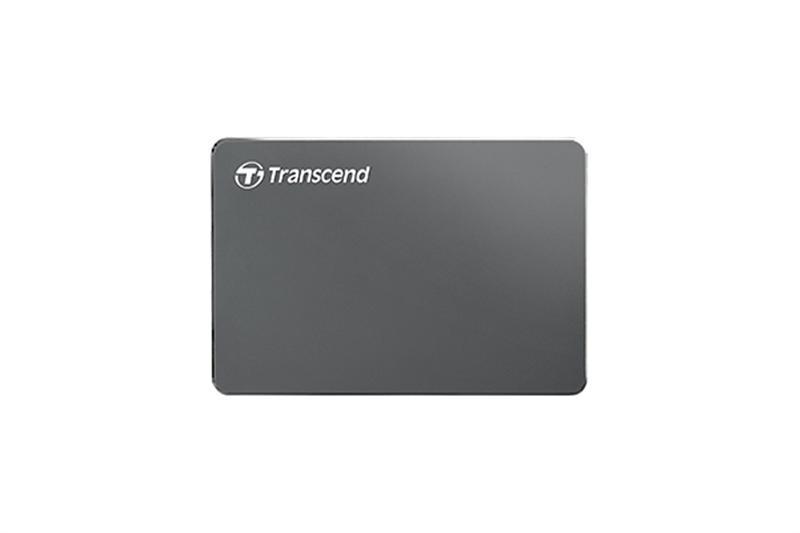 """Накопитель внешний HDD 2.5"""" USB 1.0TB Transcend StoreJet 25C3 Iron Gray (TS1TSJ25C3N)"""