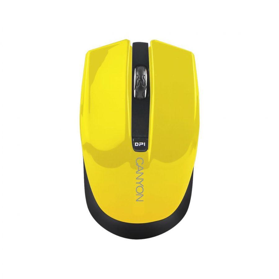 Мышь беспроводная Canyon CNS-CMSW5Y Yellow USB
