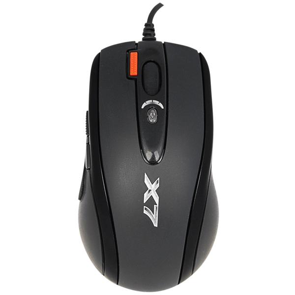 Мышь A4Tech X-718BK Black USB