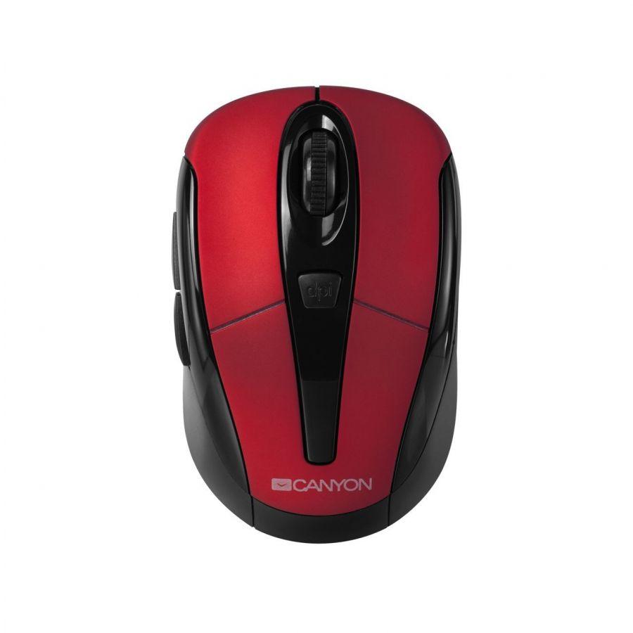 Мышь беспроводная Canyon CNR-MSOW06R Black/Red USB