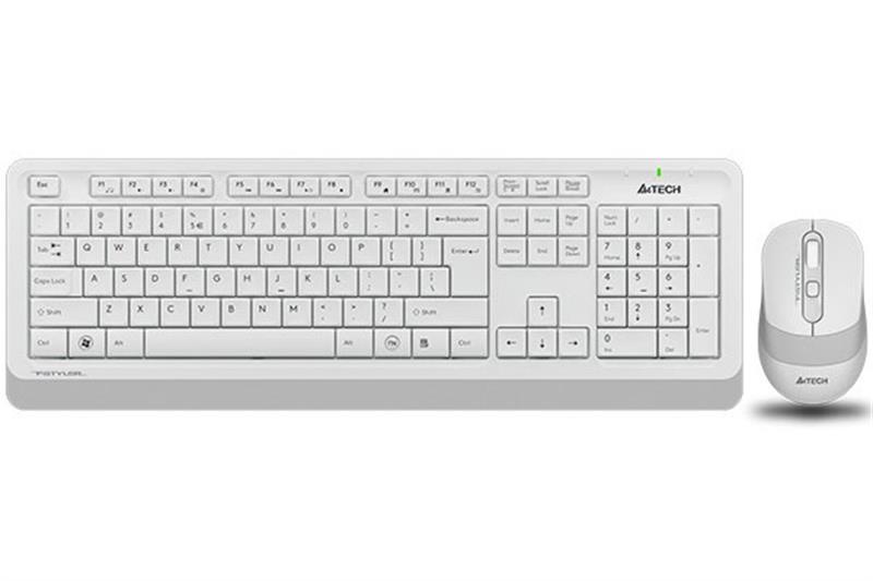 Комплект (клавиатура, мышь) беспроводной A4Tech Bloody FG1010 White USB