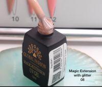 ГЕЛЬ Глобал Фешн ФЛАКОН 12 мл. MAGIC LIQUID EXTENSION 08 с шиммером