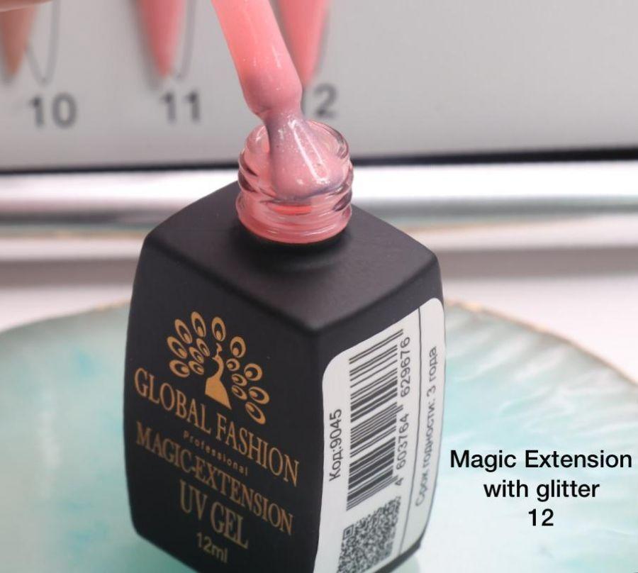 ГЕЛЬ Глобал Фешн ФЛАКОН 12 мл. MAGIC LIQUID EXTENSION 12 с шиммером