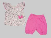 """Костюм """"Лола"""": футболка с бантом, шорты kFC-KS069-SUk (02080) Мамин Малыш"""