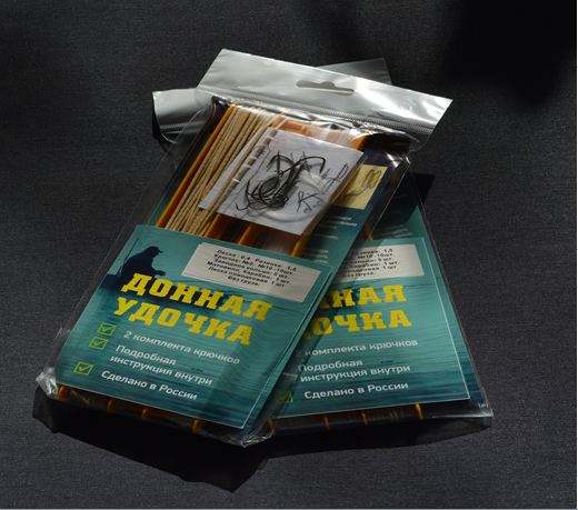 Донка оснащенная резина 1,5мм.х 10м леска 50м крючки №2 и №10 шт без груза