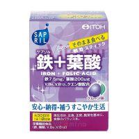 ITOH Железо+фолиевая кислота со вкусом чернослива Sapril Iron + Folic Acid, 30 дней