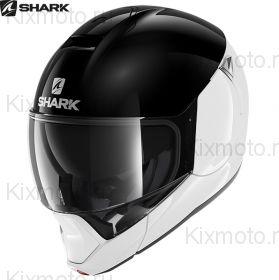 Мотошлем Shark Evojet Dual, Черно-белый