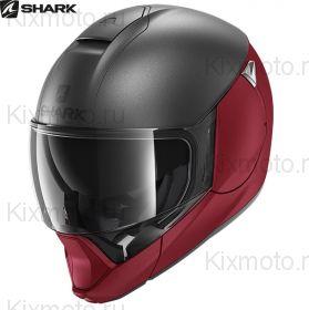 Шлем Shark Evojet Dual, Серо-Красный