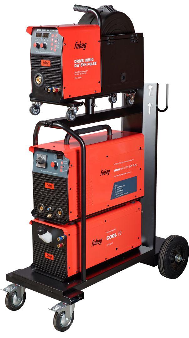 FUBAG Сварочный полуавтомат INMIG 500T DW SYN + DRIVE INMIG DW + Шланг пакет 5м + горелка FB 500 3m + блок жидкостного охлаждения Cool 70 + тележка