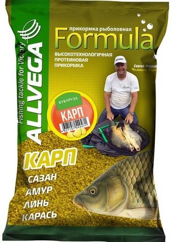 "Прикормка ALLVEGA ""Formula Carp Sweetcorn"" 0,9 кг КАРП КУКУРУЗА"