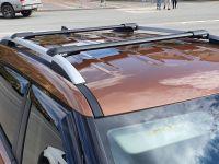 Багажник на рейлинги Hyundai Creta, Lux Hunter, черный, крыловидные аэродуги