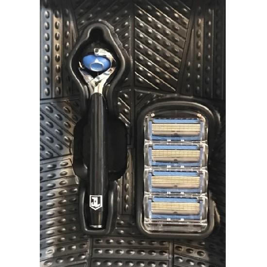Gillette Fusion ProShield Chill сменные кассеты (4 шт) + станок для бритья Flexball, промо-набор