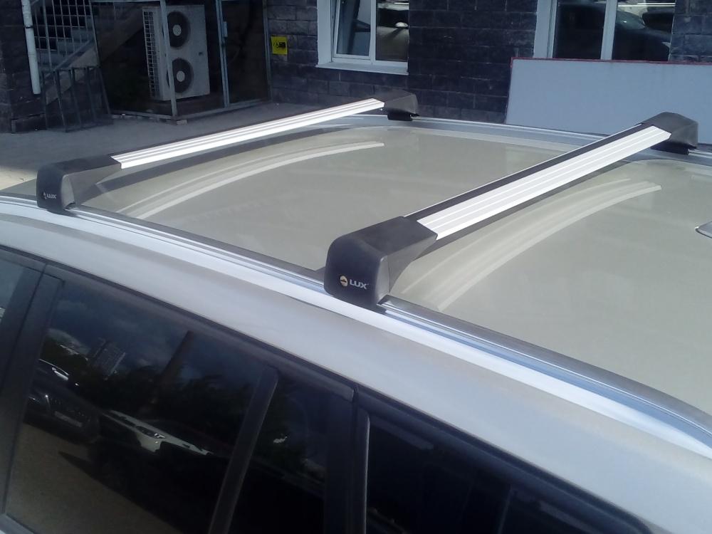 Багажник на крышу BMW X3 (G01) 2018-..., Lux Bridge, крыловидные дуги (серебристый цвет)