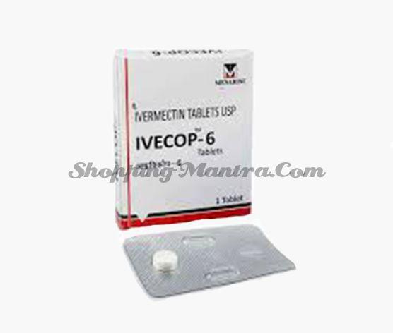 Ивекоп (ивермектин 6мг) антипаразитарный препарат Менарини Индия | Menarini India IVECOP Ivermectin 6mg Tablet