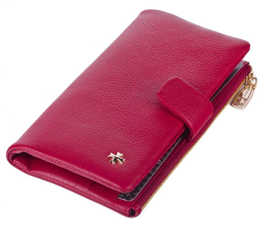 Бумажник из натуральной кожи Narvin 9688-N.Polo Red
