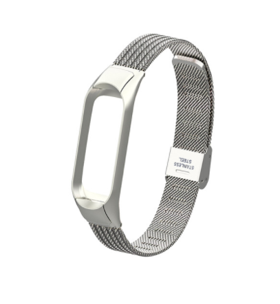 Сменный металлический ремешок на фитнес-браслет Xiaomi mi band 5 ( Серебро )