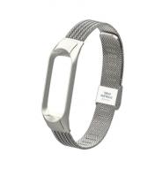 Сменный металлический ремешок на фитнес-браслет Xiaomi mi band 3/4 ( Серебро )