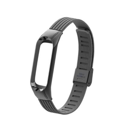 Сменный металлический ремешок на фитнес-браслет Xiaomi mi band 5 ( Черный )