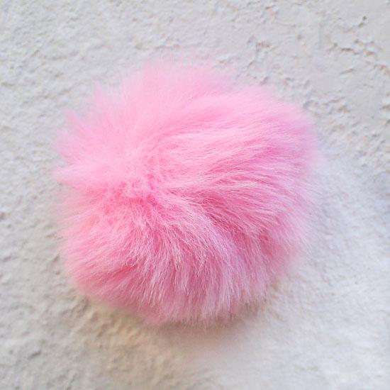Меховой помпон - Розовый 5 см