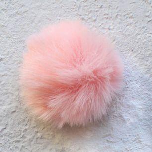 Меховой помпон - Персиковый 5 см