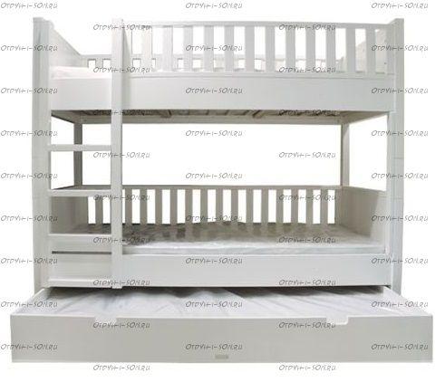 Кровать трехъярусная Классика №10