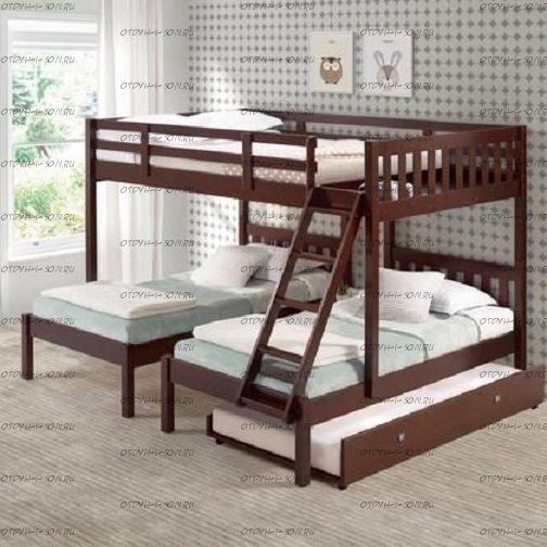 Кровать трехъярусная / четрехъярусная Butterfly Классика №14