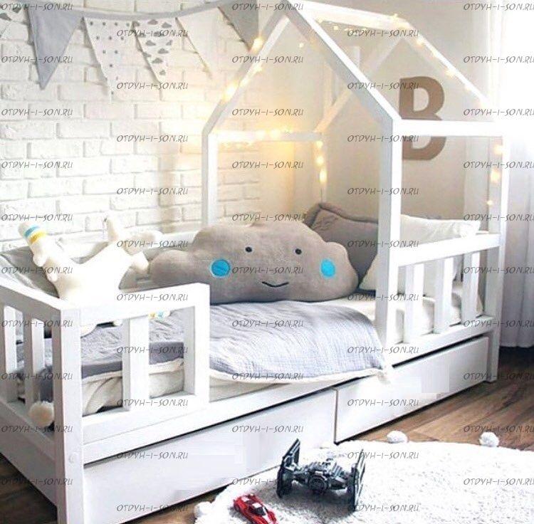 Кровать-домик Sidney №5, любые размеры и цвета