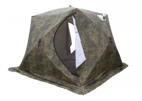 Палатка СТЭК КУБ-4 Т трехслойная камуфляж