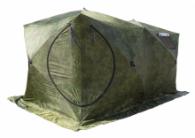 Палатка СТЭК Куб 3 ДУБЛЬ Т трехслойная камуфляж