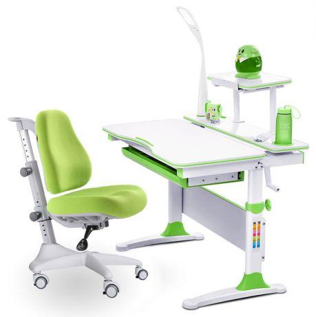 Комплект Mealux EVO-30 Натуральное дерево: парта + кресло + лампа