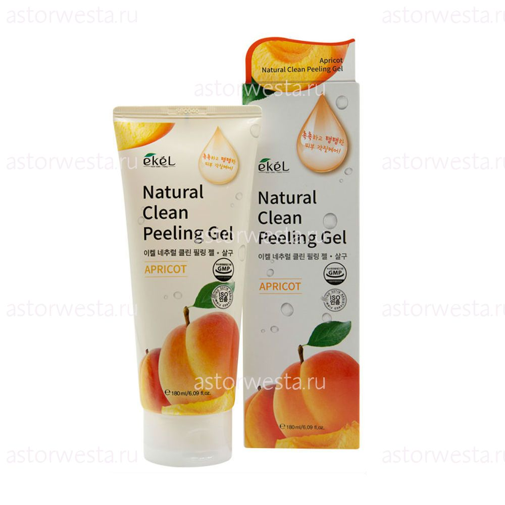 Ekel Natural Clean Peeling Gel Apricot, 180 мл Пилинг-скатка с экстрактом Абрикоса