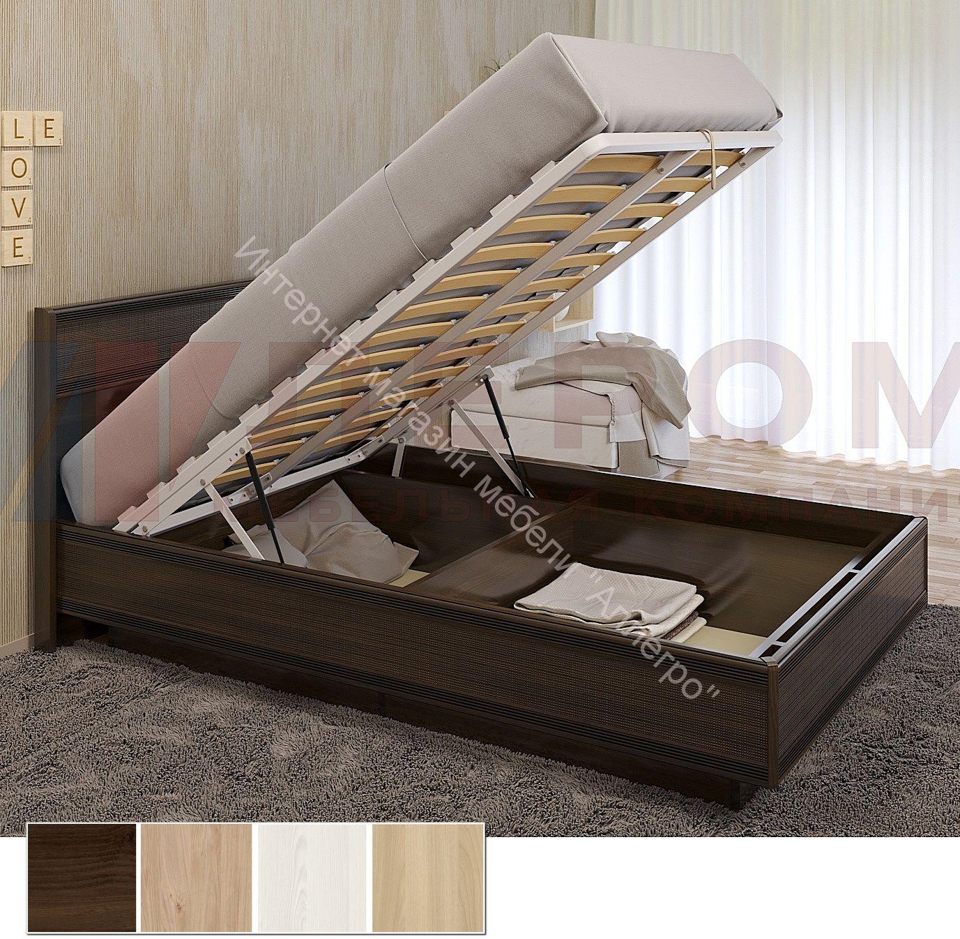 Карина Кровать КР-1001 (1,2х2,0) с П/Мех. и жестким изголовьем
