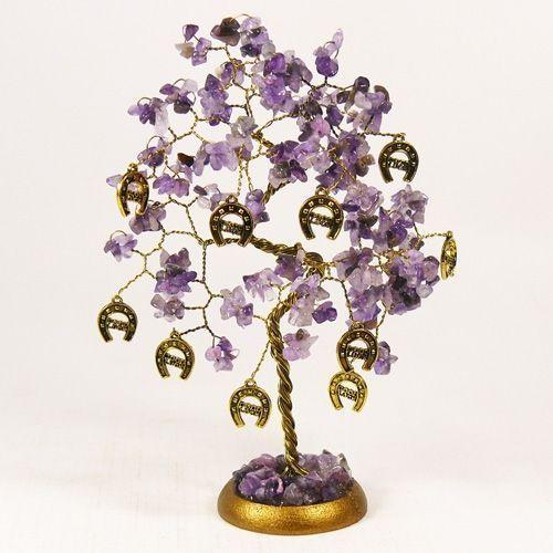Дерево удачи с подковами - аметист