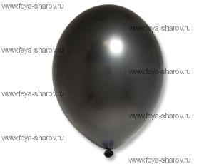 "Шар 14""(32см) Belbal Black 090 Металлик"