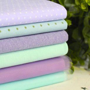 Набор тканей для пошива Лаванда и мята