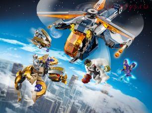 Конструктор LARI Super Heroes Мстители: Спасение Халка на вертолёте 11507 (Аналог LEGO Super Heroes 76144) 506 дет