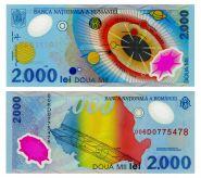 Румыния - 2000 лей 1999 год,полимер, UNC ПРЕСС