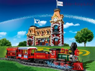 Конструктор LARI Disney Поезд и станция Disney 11442 (Аналог LEGO Disney 71044) 3019 дет