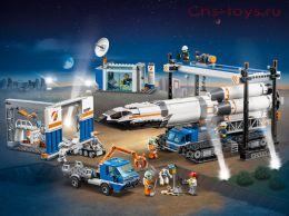 Конструктор Lari Город Площадка для сборки и транспорт для перевозки ракеты 11388 (60229) 1097 дет