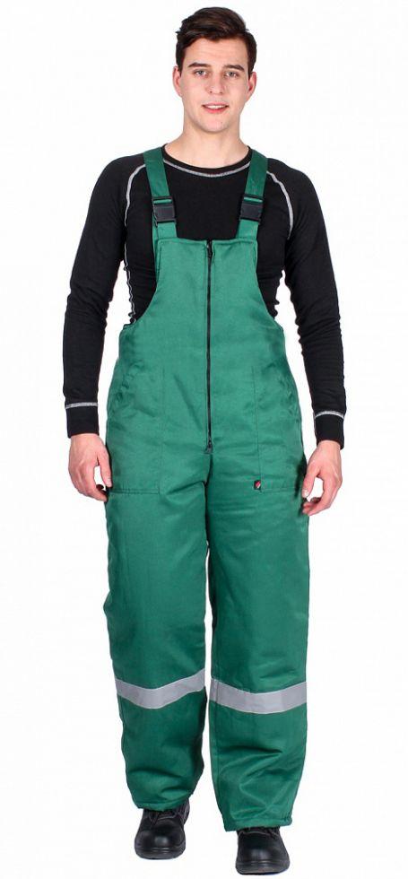 Полукомбинезон зимний Экспертный-Люкс (тк.Смесовая,210), зеленый